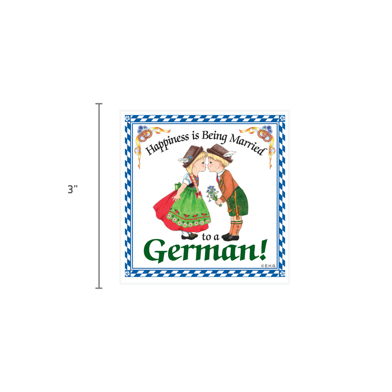 German Gift Idea Magnet Happiness Married To German