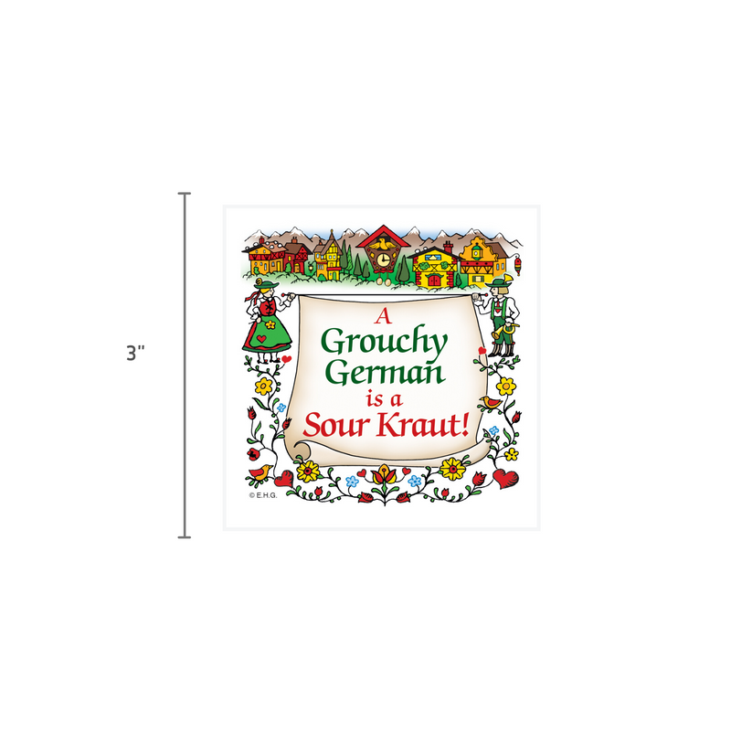 German Gift Idea Magnet Grouchy German