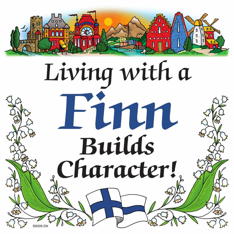 Finnish Souvenirs Magnetic Tile Living With A Finn