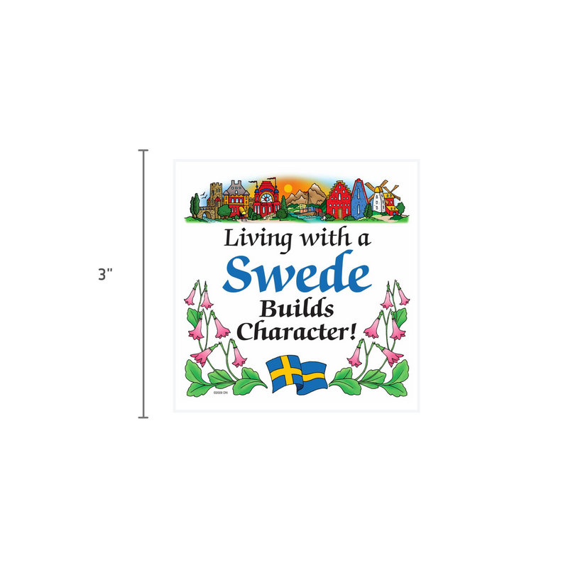 Swedish Souvenirs Magnet Tile Living With Swede