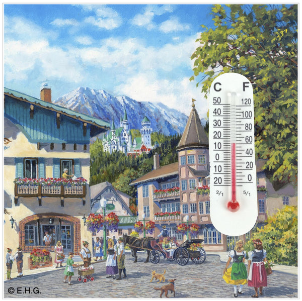 Thermometer Tile Magnet Summer