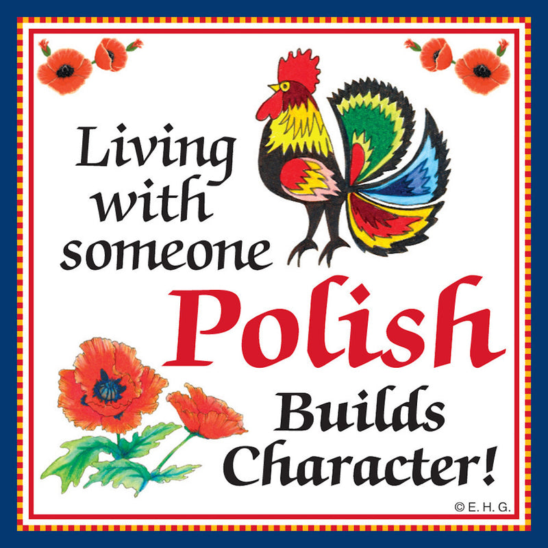 Tile Magnet Polish Character - Below $10, Collectibles, CT-245, Home & Garden, Kitchen Magnets, Magnet Tiles, Magnet Tiles-Polish, Magnets-Polish, Magnets-Refrigerator, Polish, PS-Party Favors, SY: Living with a Pole