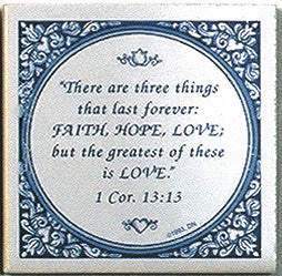 Tile Magnets Quotes: Three Things: Greatest Is Love
