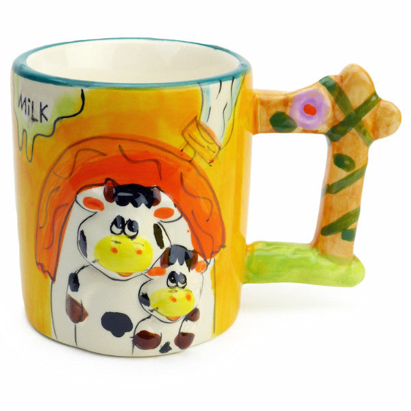 Mug w/ Sound of Animal: Cow & Calf - Animal, Coffee Mugs, Coffee Mugs-Musical, Collectibles, Decorations, Drinkware, General Gift, Home & Garden, PS-Party Favors, Tableware