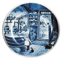 Collectors Plate Cheesemaker Blue