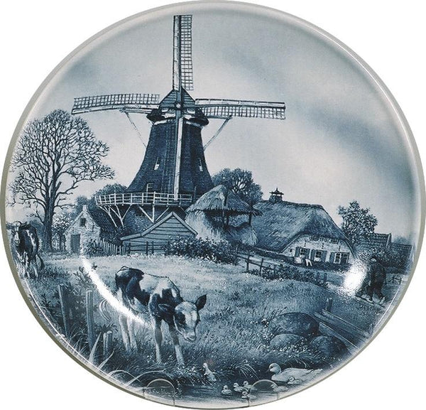 Collectors Plate Spring Scene Blue