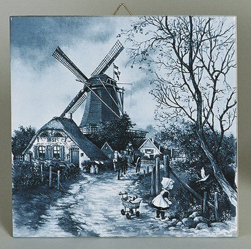 Four Seasons Fall Collectible Delft Tile