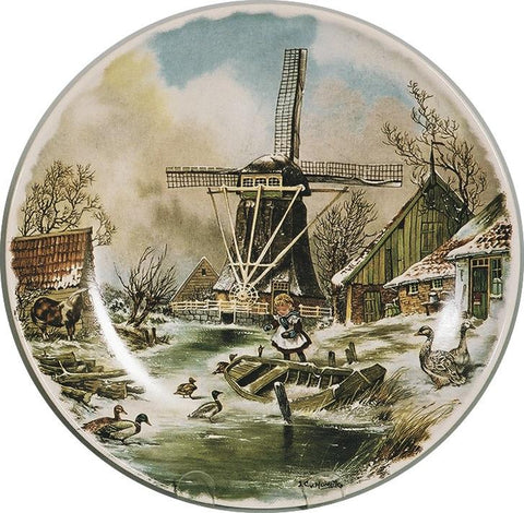 Collectors Plate Winter Scene Color