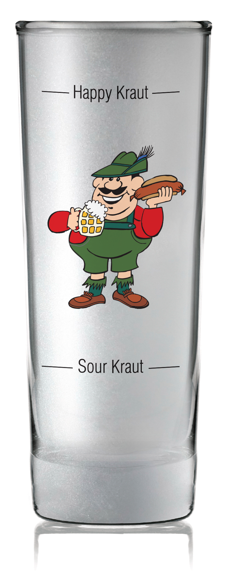 Oktoberfest Party Favor Shooter Grouchy German Clear - Alcohol, Barware, Clear, Collectibles, Drinkware, Frosted, German, Germany, Glass, Home & Garden, PS- Oktoberfest Party Favors, PS-Party Favors, PS-Party Favors German, Shot Glasses, Shots-Glass, SY: Grouchy German, Tableware - 2 - 3