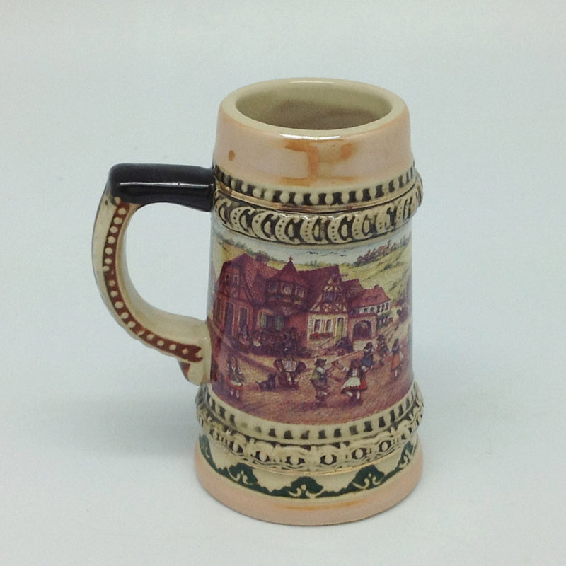 German Beer Stein Village Dancers Shots - Alcohol, Barware, Ceramics, Collectibles, Drinkware, German, Germany, Home & Garden, Joseph Mahler, Multi-Color, PS- Oktoberfest Party Favors, PS-Party Favors, PS-Party Favors German, Shot Glasses, Shots-Ceramic, Tableware, Top-GRMN-B - 2 - 3