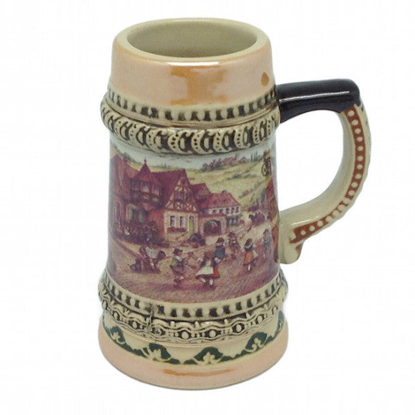 German Beer Stein Village Dancers Shots - Alcohol, Barware, Ceramics, Collectibles, Drinkware, German, Germany, Home & Garden, Joseph Mahler, Multi-Color, PS- Oktoberfest Party Favors, PS-Party Favors, PS-Party Favors German, Shot Glasses, Shots-Ceramic, Tableware, Top-GRMN-B