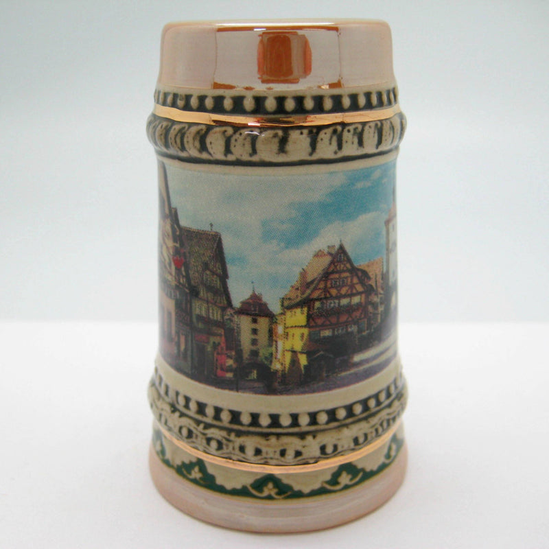 Rothenburg Souvenir Ceramic Beer Stein Shot Glass - Alcohol, Barware, Ceramics, Collectibles, Drinkware, Euro Village, European, German, Germany, Home & Garden, Multi-Color, PS- Oktoberfest Party Favors, PS-Party Favors, PS-Party Favors German, Shot Glasses, Shots-Ceramic, Shots-Glass, Tableware, Top-GRMN-B - 2