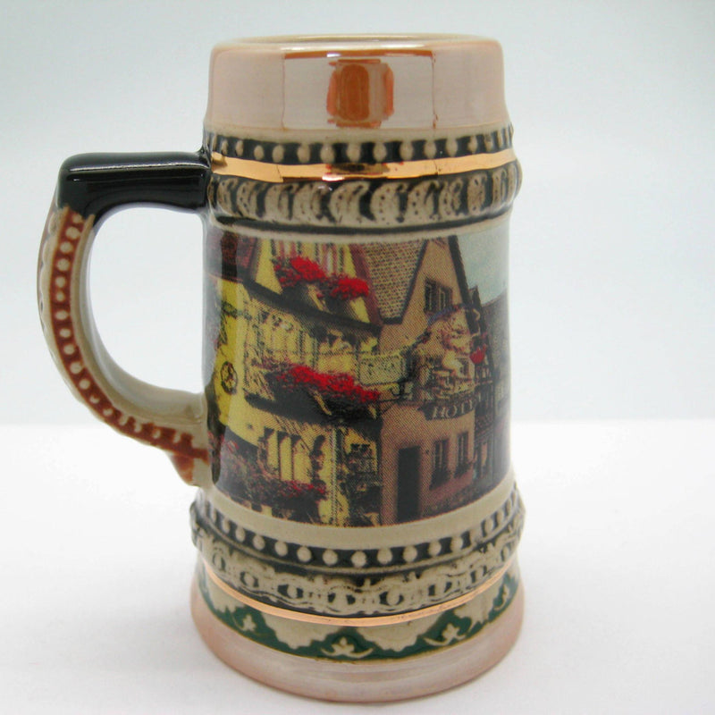 Rothenburg Souvenir Ceramic Beer Stein Shot Glass - Alcohol, Barware, Ceramics, Collectibles, Drinkware, Euro Village, European, German, Germany, Home & Garden, Multi-Color, PS- Oktoberfest Party Favors, PS-Party Favors, PS-Party Favors German, Shot Glasses, Shots-Ceramic, Shots-Glass, Tableware, Top-GRMN-B - 2 - 3