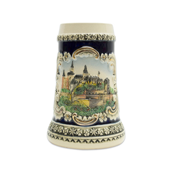 Scenic Bavarian Castle Engraved Beer Stein