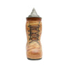 Unique Beer Boot Ceramic Stein with Engraved Metal Lid