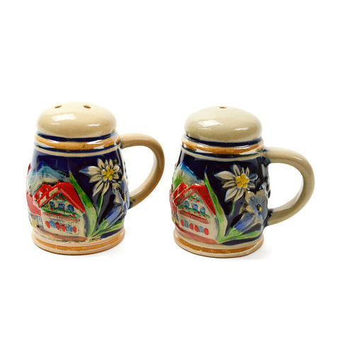 Alpine Village Engraved Beer Stein Salt & Pepper Set