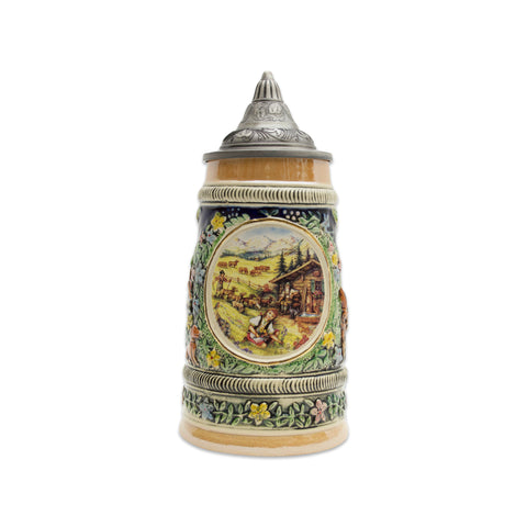 Spring in Germany Beer Stein .5 Liter with Metal Lid