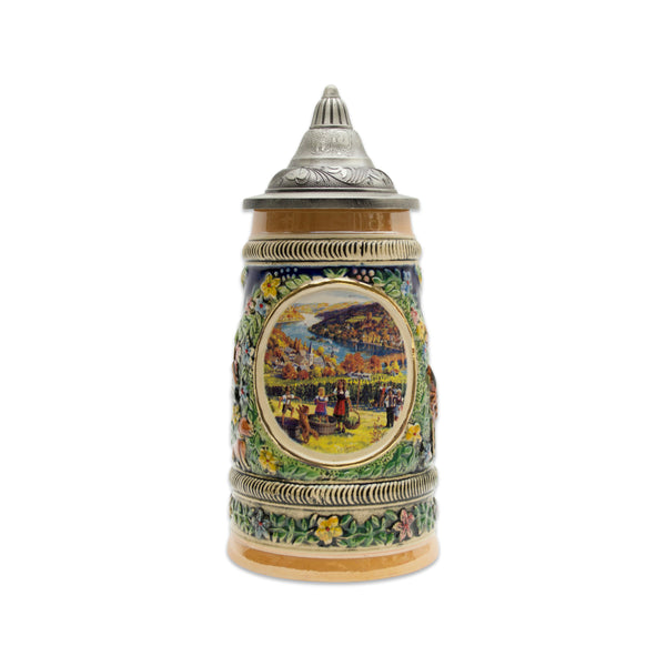 Fall in Germany Beer Stein .5 Liter with Metal Lid