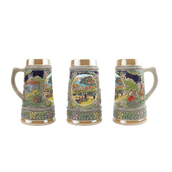 Fall in Germany Ceramic Shot Glass Stein Collection -6
