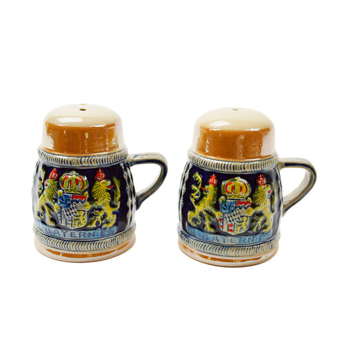 Bayern Coat of Arms Engraved Beer Stein Salt & Pepper Set