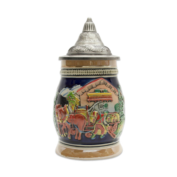 Oktoberfest Beer Hops Harvest Beer Stein with Engraved Metal Lid