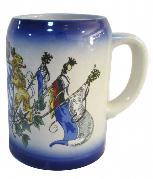 .5 Liter Bayern Coat of Arms Stoneware Beer Stein