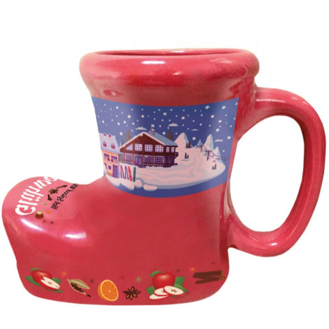 Ceramic Red Gluhwein Boot Mug
