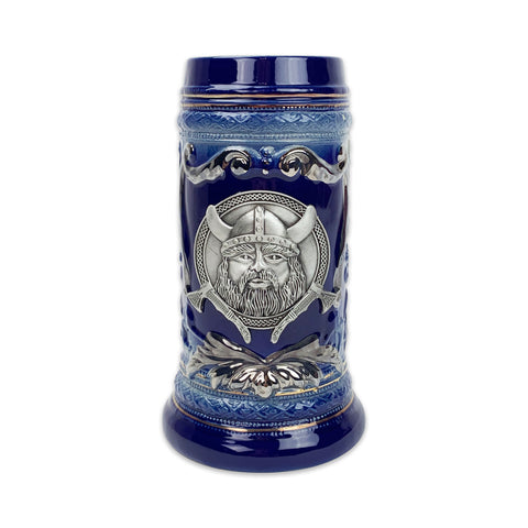 Viking Metal Medallion .75L Beer Stein with Deluxe Relief