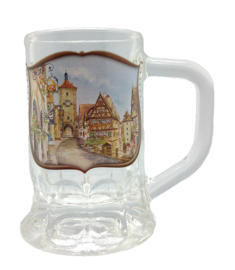 Dimpled Mug Oktoberfest Shot Glass - Alcohol, Barware, Clear, Collectibles, Drinkware, German, Germany, Glass, Home & Garden, PS- Oktoberfest Party Favors, PS-Party Favors, PS-Party Favors German, Shot Glasses, Shots-Glass, Tableware - 2