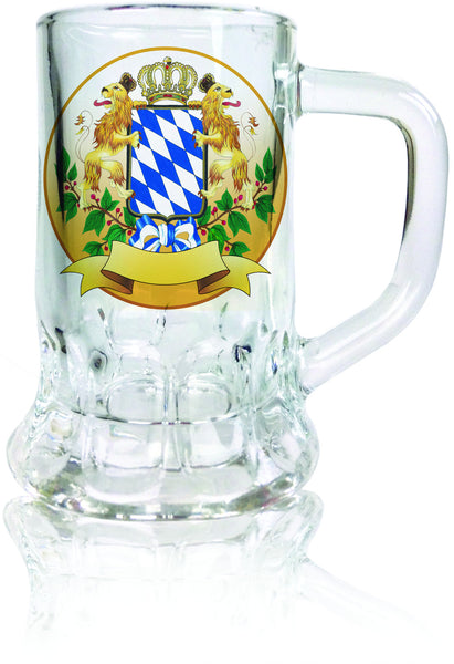 Oktoberfest Beer Mug Shot Glass: Bayern Coat of Arms