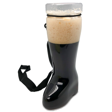 1 Liter Blank Plastic Beer Boot With Lanyard
