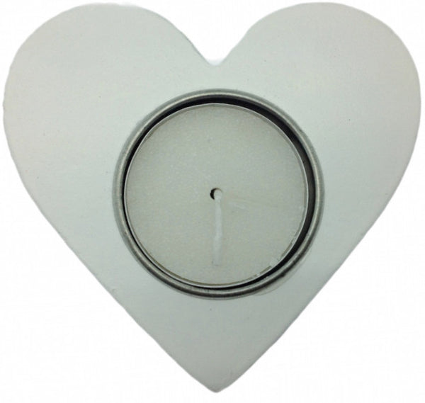 White German Party Favor Heart Candle Votive