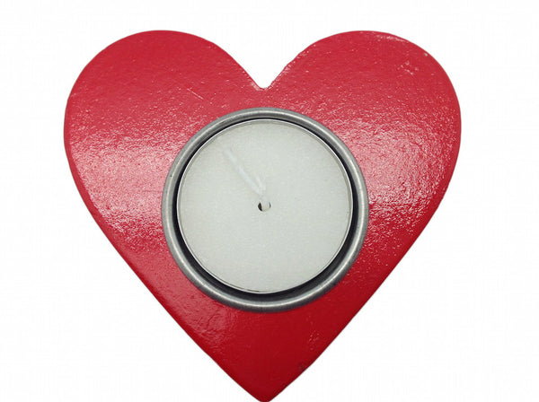 Red Heart Candle Votive German Party Favor