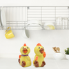 Animal Salt & Pepper Shakers Chickens Basket