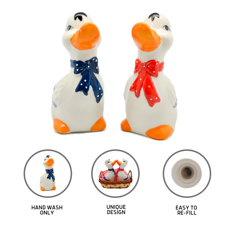 Animal Salt & Pepper Shakers Ducks Basket