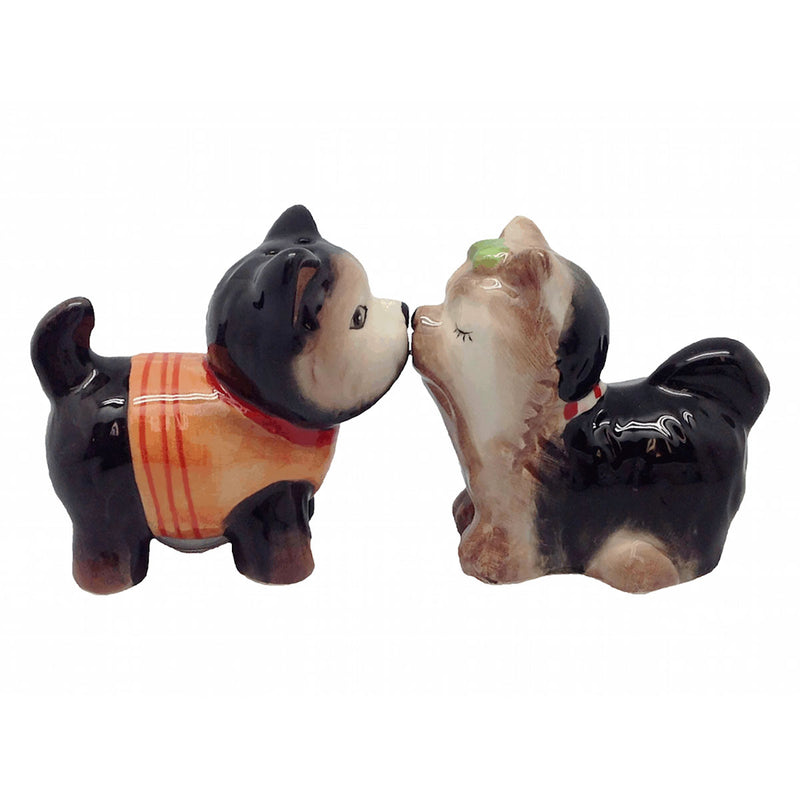 Ceramic Salt & Pepper sets Magnetic Dogs