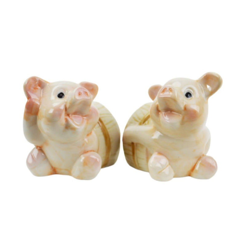 Unique Salt & Pepper Pigs In Barrel