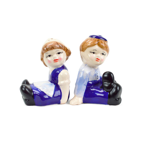 Vintage Salt and Pepper Dutch Boy and Girl Shakers
