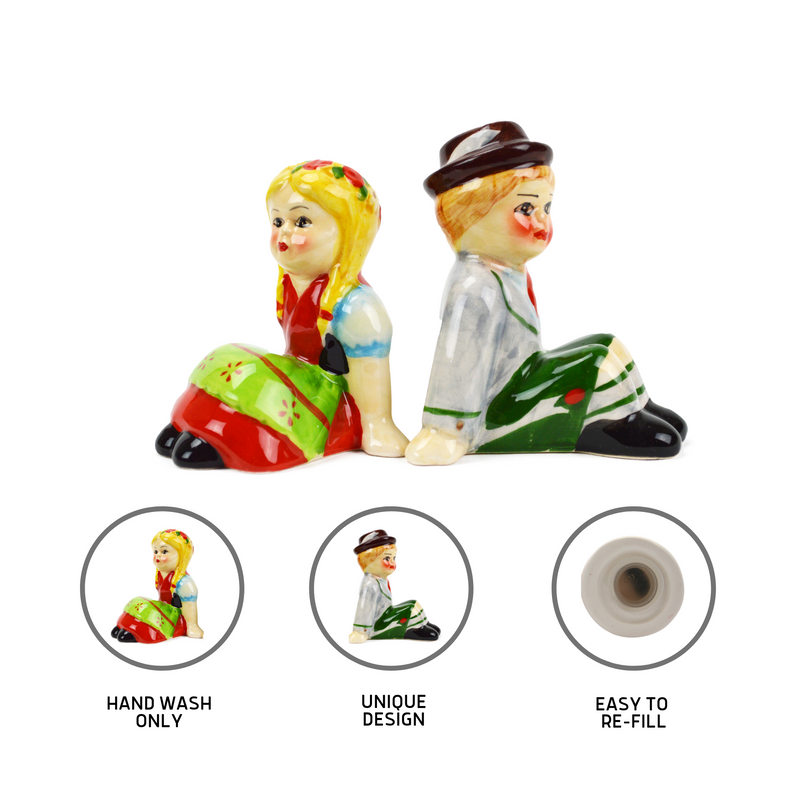 Unique Salt & Pepper Shakers German Couple