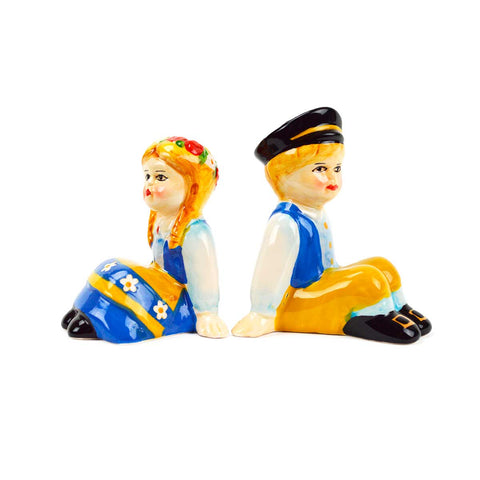 Vintage Salt & Pepper Shakers Swedish Sitting Couple