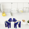 Blue Dala Horse Salt and Pepper Shaker