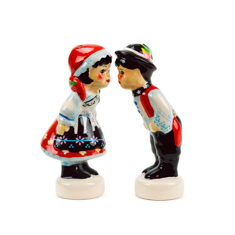 Ceramic Salt & Pepper Czech Couple