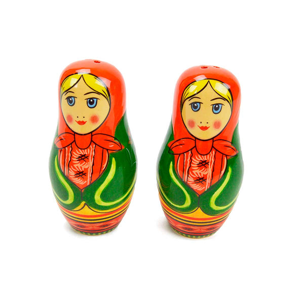 Russian Nesting Doll Collectible Salt & Pepper Set