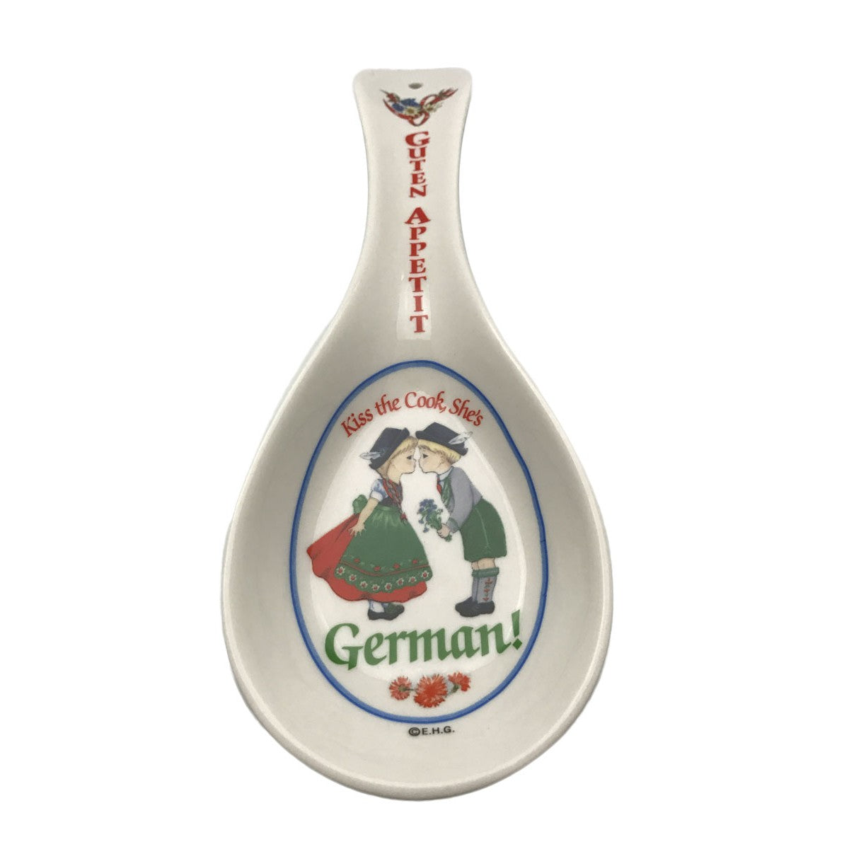 Guten Appetit: Ceramic Kitchen Spoon Rest German Gift ...