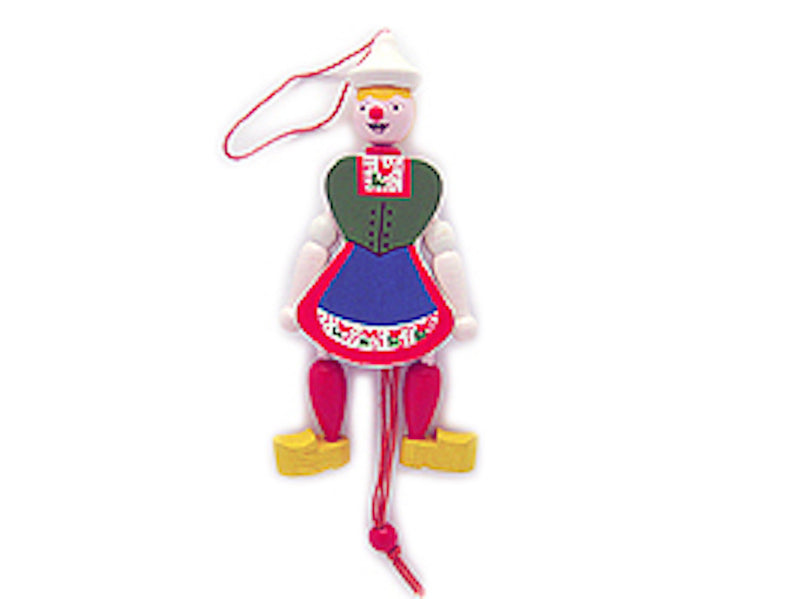 Jumping Jack Toys Dutch  Girl - Collectibles, Decorations, Dutch, Figurines, Home & Garden, Jumping Jacks, Medium, PS-Party Favors, PS-Party Favors Dutch, Size, Small, Souvenirs-Dutch