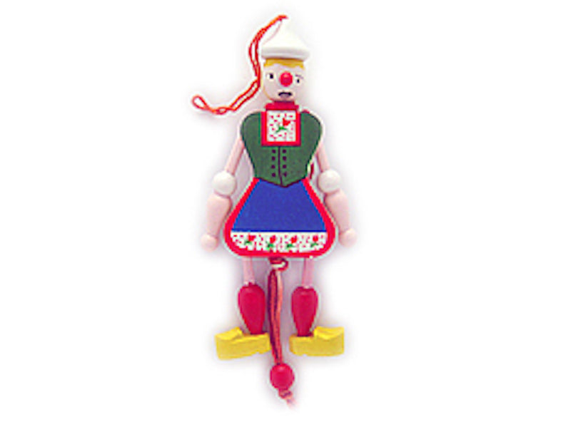 Jumping Jack Toys Dutch  Girl - Collectibles, Decorations, Dutch, Figurines, Home & Garden, Jumping Jacks, Medium, PS-Party Favors, PS-Party Favors Dutch, Size, Small, Souvenirs-Dutch - 2