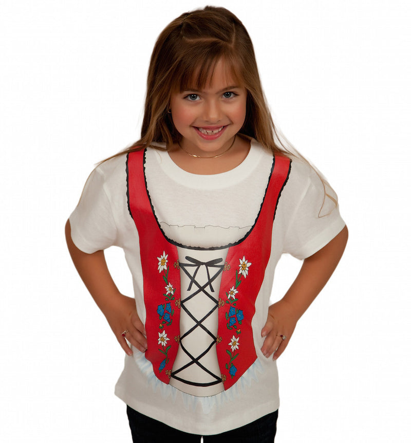 Oktoberfest German Dirndl Youth T Shirt - Apparel- Costumes - German - Womens, Apparel- T Shirts, Apparel-Baby & Toddler Clothing, Apparel-Costumes, Apparel-Shirt-German, German, Germany, Oktoberfest, PS-Party Favors, PS-Party Supplies, Size, Top-GRMN-B, White, Youth Small, Youth XS
