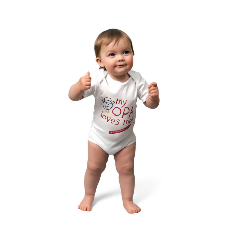 "Opa Kids Snap Suit ""My Opa Loves Me"""