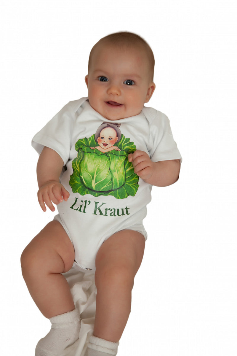 German Kids Snap Suit  inchesLil Kraut inches - Apparel- T Shirts, Apparel-Baby & Toddler Clothing, Apparel-Costumes, Apparel-Shirt-German, Baby, CT-107, German, Germany, S, Size, SY: Lil Kraut, White, XS, Youth-XS