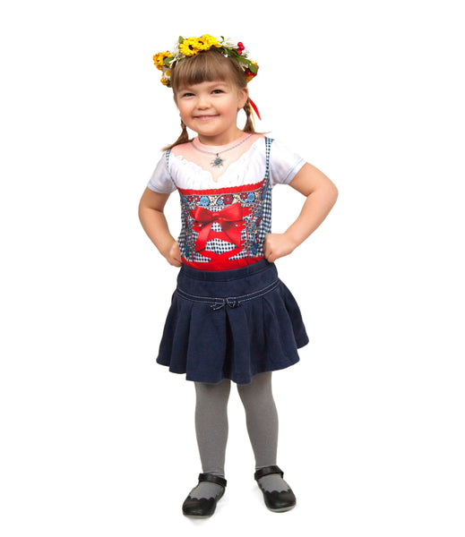 Oktoberfest Costume Youth Dirndl Realistic Faux Shirt